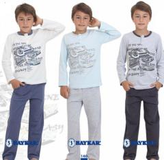 Пижама для мальчика Гонка №84 Baykar, серый и