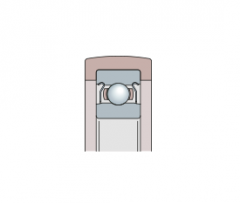 Подшипники - направляющие опорные ролики шариковые однорядные с полимерной оболочкой