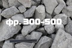 Stone rubble fractions 300-500