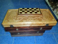 Chess for gift, Complete checkers, backgammon,