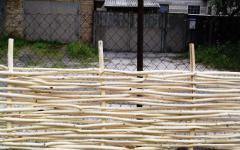 Wattle fence, tyn from a rod Kiev