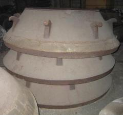 Armor to conical crushers of all types of armor
