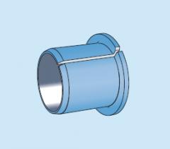 Композитные металлополимерные подшипники - втулки скольжения с фланцем из PTFE композитом