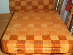Chopping board for meat products, wooden,