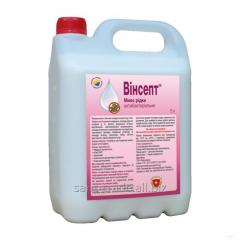 Antibacterial liquid soap of Vinsept, canister of