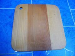 Wooden cutting board, oak, of rounded corners, the