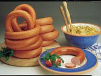 Complex additives for cooked sausages, sausages,
