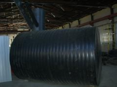 Torch drain tanks volume are from 1 to 25 cbm.