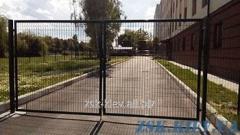 Ворота из сетки ЭКО рама O45мм. Высота 1,48м, ширина 4м код VTE-04111