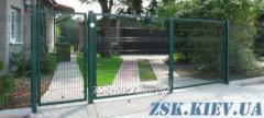Ворота из сетки Класик рама 40х40мм. Высота 2,4м, ширина 4м код VTK-10111