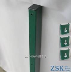 Столб 1.5м 60х40мм Классик крепления в комплекте код PTK-01