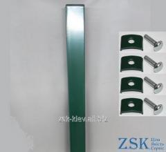 Столб 3.0м 60х40мм Рубеж крепления в комплекте код PVR-101