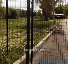 Ворота из сетки ЭКО рама O45мм. Высота 2.03м, ширина 4м код VTE-06111