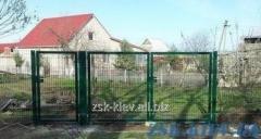 Ворота из сетки с полимерным покрытием. Высота 1,48м, ширина 3м
