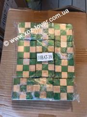 Кубик деревянный зеленый,  шт.