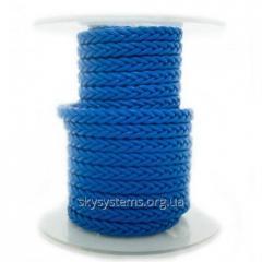 Квадратный плетеный кожаный шнурок | 5,0 х 5,0 мм Цвет: Синий (Австрия)