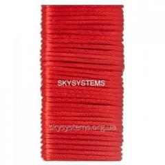 Шелковый шнур гладкий | 1.0 мм Цвет: Красный 30