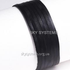 Кожаная лента | 4,0 х 1,0 мм, Цвет: Черный