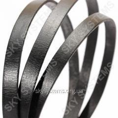 Плоский кожаный шнур | 10,0 x 2,0 мм, Цвет: Черный
