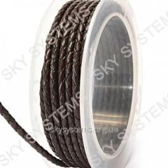 Leather wattled cord | 3,0 mm, Brown