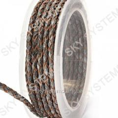 Leather wattled cord | 3,0 mm, Grey