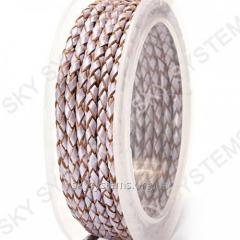 Leather wattled cord | 3,0 mm, Viole