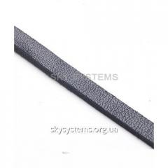 Flat leather cord | 6,0 x 2,5 mm, Colour: Black
