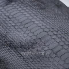 Натуральная кожа питона в отрезках (серый)