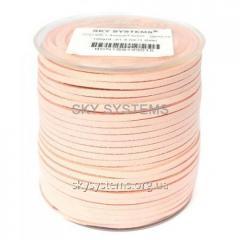 Шнур Алькантара 1.4 x 3.0 мм Бледно-розовый 15