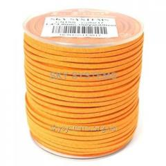 Шнур Алькантара 1.4 x 3.0 мм Оранжевый 17