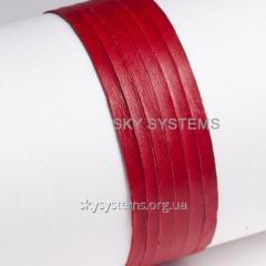 Кожаная лента | 4,0 х 0,5 мм, Цвет: Красный