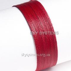 Кожаная лента | 3,0 х 0,7 мм, Цвет: Красный антик