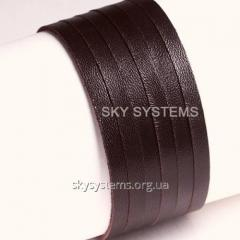 Leather tape | 3,0 x 1,2 mm, Colour: Brown