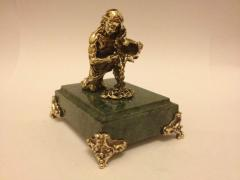The figure is bronze, Aquarius, zodiac sign, a