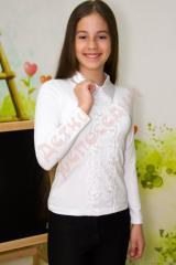 Блузка школьная длинный рукав для девочки Воротник