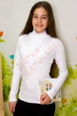 Блузка школьная длинный рукав для девочки