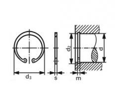 Внутренние стопорные кольца (ГОСТ 13941, ГОСТ 13943, DIN 472)
