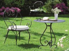 Мебель для сада из металла