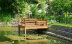 Укрепление берега, дачные мостики