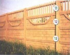 Форма для производства Заборов, Секции №11,12,13