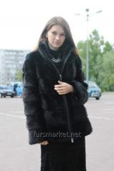 A fur coat from natural mink fur.