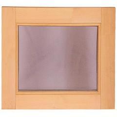 Window for a bath and a sauna deaf, the