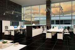Коллекция мебели, бенч-система серии ONLINE для офисов открытой системы планировки Open Space