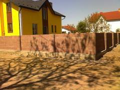 Заборы бетонные Наборный столбик