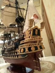 Model of the sailing San Felipe ship