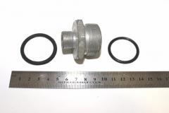 Н-р фланец (угловая муфта) (штуцерS24+кольцо) арт.  240