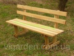 Скамейка садовая деревянная со спинкой, длина 170 см, Кадис