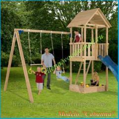 Детская игровая площадка из дерева для частного пользования, Cabanna