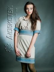 Вышитое модное платье ЖП 36-28-T