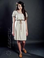 Вышитое модное платье ЖП 42-62-T